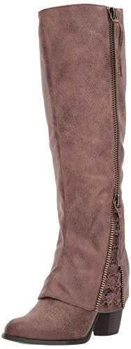Not Rated Women's Sassy Classy Riding Boot, Brown, 8.5 M - Riding Tall Boots