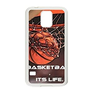 basketball is life Personalized Cover Case with Hard Shell Protection for SamSung Galaxy S5 I9600 Case lxa#287047