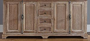 """James Martin Providence 72"""" Double Bathroom Vanity in Driftwood - Top Not Included"""