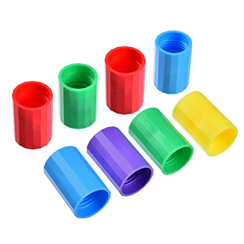 TecUnite 8 Pieces Bottle Connectors Tornado Connector Cyclone Tube for Scientific Experiment and Test, 5 Colors (Tornado Water)