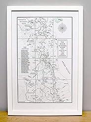 The John Muir Trail and the High Sierra, Letterpress Map Unframed Print