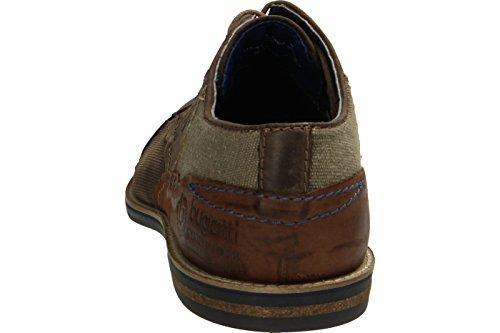 Bugatti 311111111500, Zapatos de Cordones Derby para Hombre marrón oscuro