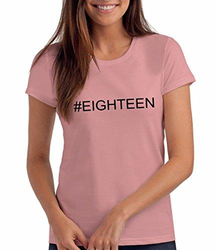 per di Da Compleanno Rosa Maglietta Londra Anni per Ragazze Regalo Eighteen 18 Hashtag UFzwT