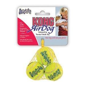 KONG Air Squeaker Tennis Balls, Small (6 balls) (Dog Air Balls Kong)