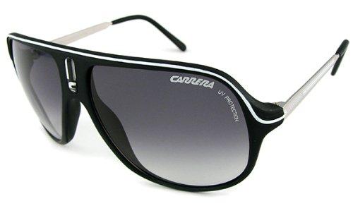 4416d81281 Carrera Safari R S Csb Black White Men s Aviator Sunglasses  Amazon ...