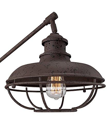 Franklin Park Ii Industrial Boom Rust Floor Lamp