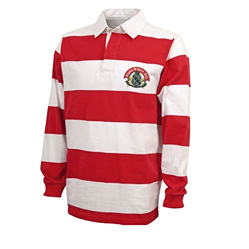 Alpha Sigma Phi Rugby Shirt Small Red/White