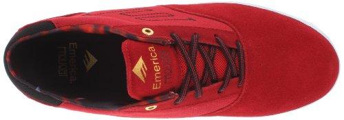 Emerica THE PROVOST - Zapatillas de cuero hombre Rojo