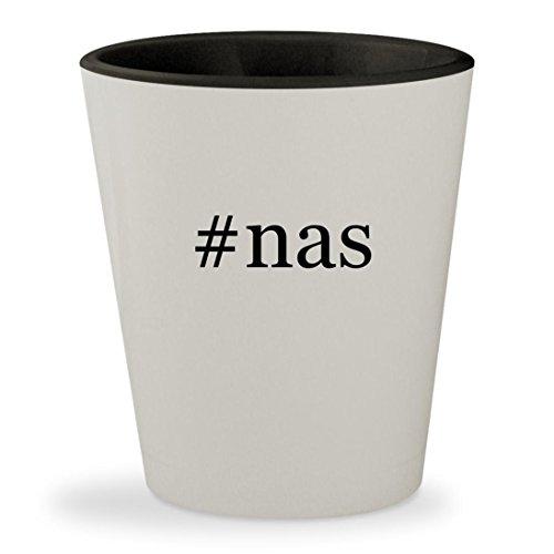 #nas - Hashtag White Outer & Black Inner Ceramic 1.5oz Shot Glass (Zindagi Poster Dobara Milegi Na)