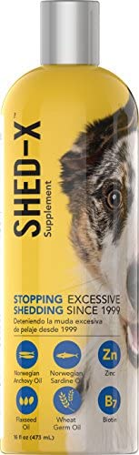Shed-X Dermaplex Liquid Daily Supplement for Dogs 100 Natural Eliminate Excessive Shedding with Daily Supplement of Essential Fatty Acids, Vitamins and Minerals