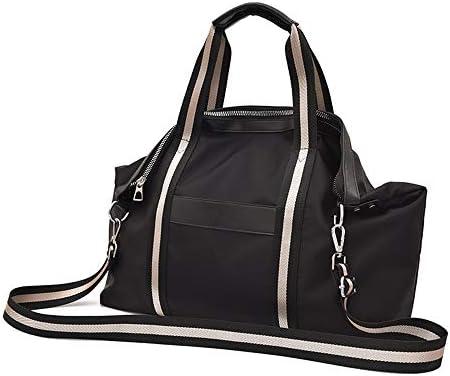 ハンドバッグ - シックな黒オックスフォード布大容量トラベルバッグ女性ファッションクロスボディバッグショルダーバッグマルチポケットデイリーカジュアルトート、58 / 47M * 36センチメートル* 14cmの よくできた