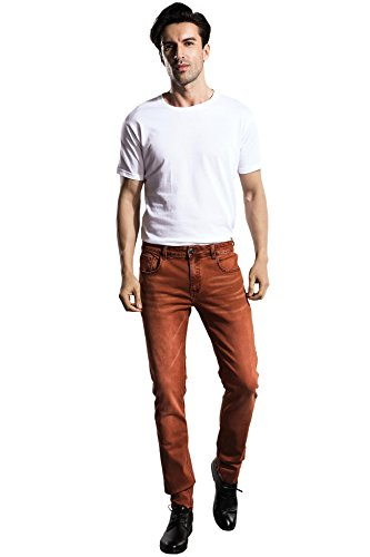 8be209ae502b ZLZ Slim Fit Jeans, Men's Younger-Looking Fashionable Colorful Super Comfy  Stretch Skinny Fit