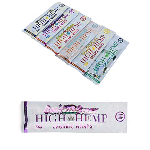 - 7 Count Variety Pack- Organic Wraps- Vegan, Natural, Non GMO and 100% Tobacco Free- 1 Pack of Each Flavor. Grape Ape, Honey Pot Swirl, Maui Mango, Original, Hydro Lemonade, Blazin Cherry & Bare Berry
