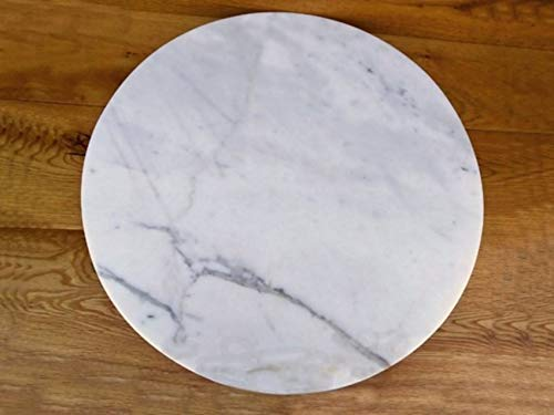 Marble Lazy Susan Turntable Rotating Tray Serving Plate Large Dining Table Centerpiece - 20 Inch