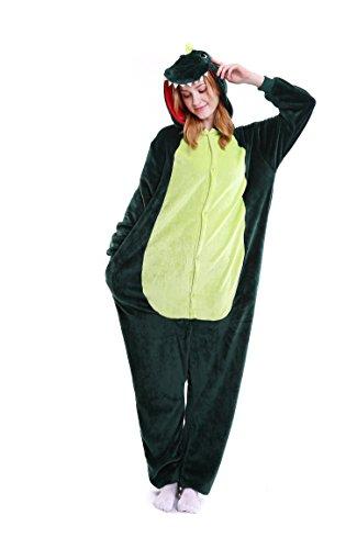 Halloween Dinosuar Onesie Costume Adult Dinosuar Animals Unicorn Pajamas Cute Sleepwear (Cute Easy To Do Halloween Costumes)
