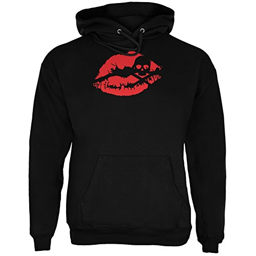 Halloween Kiss of Death Black Adult Hoodie - X-Large for $<!--$29.95-->
