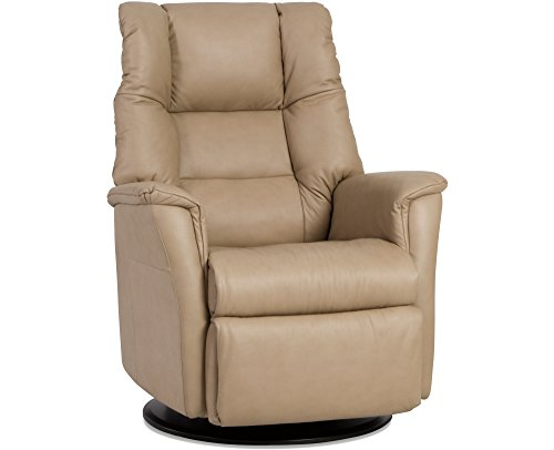 41Ir1b2l35L - IMG-Verona-Manual-Swivel-Glider-Relaxer-Recliner-Small-Compact-Size-in-Trend-Sand-Leather-In-Home-Delivery