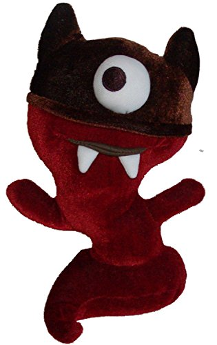 One Eyed Red Monster Snake Doll 7 1/2