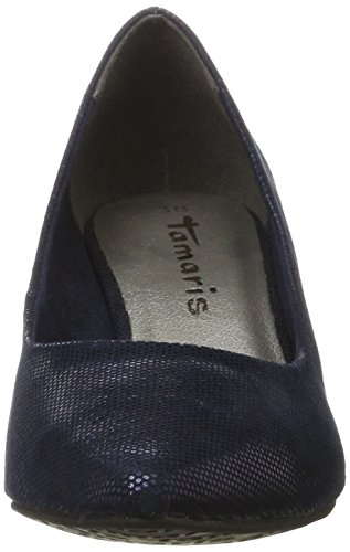 Blue Scarpe Blu con Donna 22415 Tacco Tamaris Night Str w0Sqxa5nP
