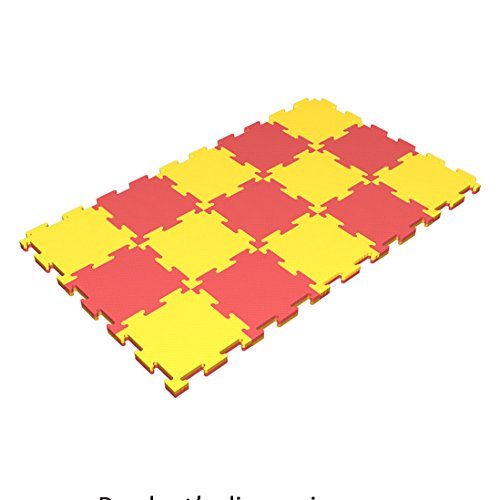 Floor Puzzle Soft Mat for Kids / 40'' x 24'' x 0.8'' / 15 Puzzel Connecting Mats / Playground Indoor Matting / Children's Assemble Sport Washable Mats for Home Play / Non Slip Thin Mat for front Hallway by sportkid