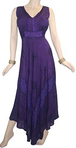 Commerçants Agan 1011 Dr Robe Longue Flare Formelle Sans Manche Empire Romain Victorien Femmes Maxi Violet