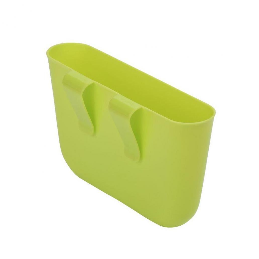 Auto Car Hanging Garbage Trash Rubbish Can Holder Dust Case Storage Organizer - Green rycent