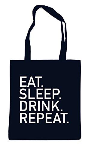 Eat Sleep Drink Repeat Bag Black
