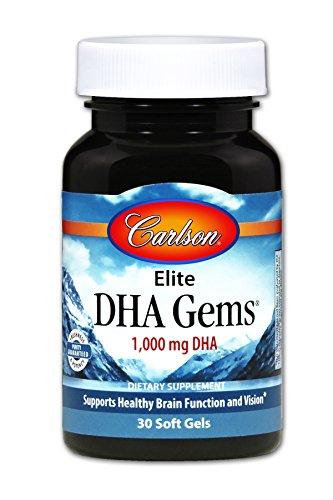 Carlson Elite DHA Gems, 1,000 mg DHA, 30 Soft Gels