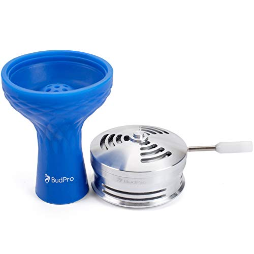 BudPro Hookah Silicone Phunnel Bowl with Shisha Heat Management Bundle like lotus charcoal holder