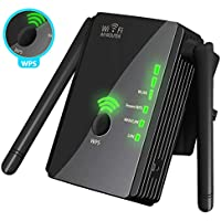 [Upgraded 2018] WiFi Extender WPS Internet Signal Booster - Wireless Repeater 2.4GHz Band up to 300 Mbps - Best Range Network/Compatible Alexa/Extends WiFi to Smart Home & Alexa Devices