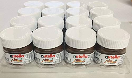 Hazelnut Spread Nutella Chocolate - Nutella Mini Glass Bottles - (16) .88 Oz. Single Serve Bottles
