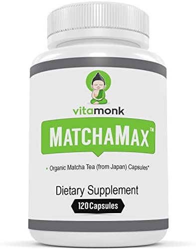MATCHAMAX Organic Japanese Matcha Capsules – Pure Organic Matcha Green Tea Pills For Smooth Zen-Like Energy and Natural Mood Boost – Vegan Matcha Supplement Packed with Antioxidants – 60ct from Japan