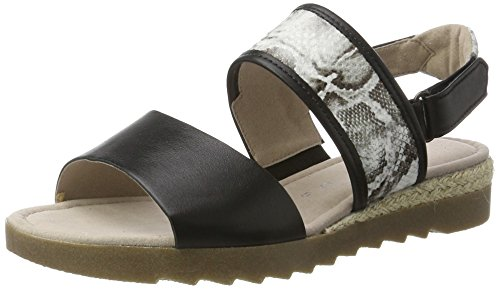 Gabor Shoes Comfort, Sandalias Mujer Negro (schw-w Jute/amb)