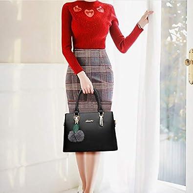 QXU-DIMDIM Fashion Big Bag One Shoulder Casual Messenger Bag Handbag