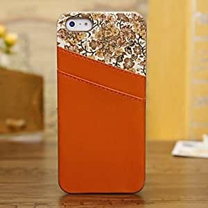 JOE Luxury Pattern Back Cover Leather Case for iPhone 5/5S (Assorted Colors) , Orange