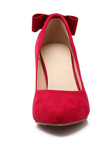 uk6 eu39 mujer 5 Tacones red eu39 us8 uk6 cn40 Zapatos us7 Tacones Tac¨®n us8 cn40 Beige Semicuero Rojo ZQ red Negro eu38 5 5 Stiletto Puntiagudos Vestido 5 cn38 red 5 de 5 uk5 EBSqa0xg