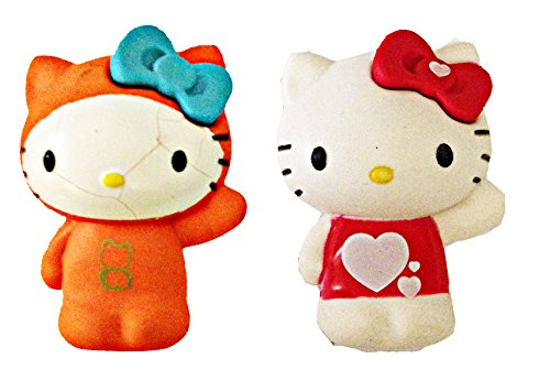 Hello Kitty Pen Pencil collectible Eraser Toppers (Love & Frog Jumper Hello (Hello Kitty Frog)