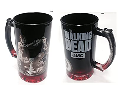 Walking Dead Biker Dry Glass Beer Mug with Handle 16 Oz