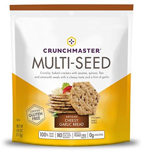 Crunchmaster Multi-Seed Crackers, Artisan Cheesy Garlic Bread, 4 ()