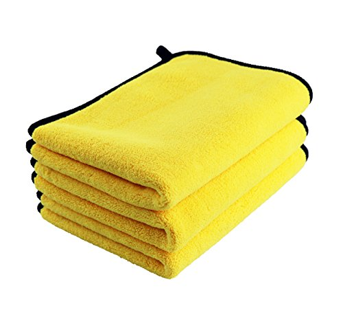 (Meccion Microfiber Cleaning Cloth Towel, Premium Car Wash Microfiber Towel Double Layers Plush Ultra-Thick Super Absorbent Drying Towel Cloth 850gsm 3 Pack (30cm x 40cm))