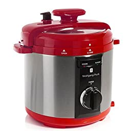 Wolfgang Puck Automatic 8-quart Rapid Pressure Cooker Red
