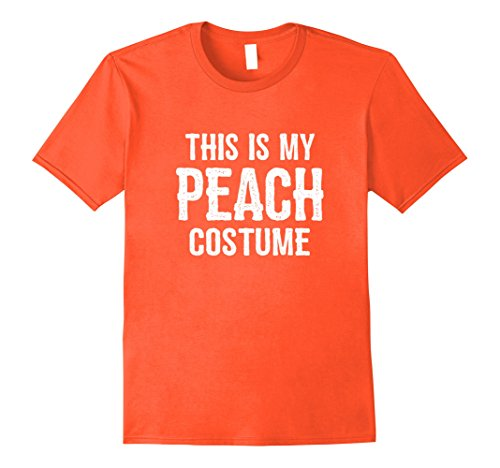 Mens Peach Costume Shirt - Funny Easy Halloween Costumes XL Orange