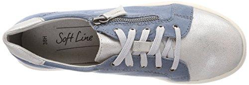 Denim Femme 23662 Softline Comb Basses 42 Sneakers EU Bleu qSXwCO