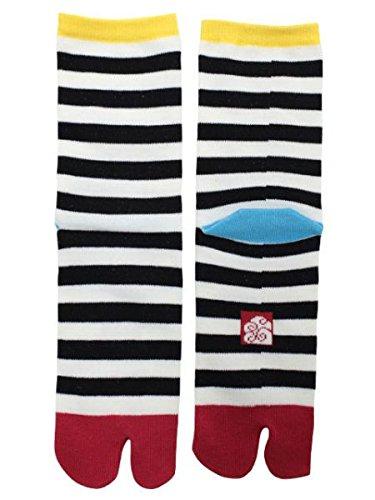 Kaya Women's Stripe Tabi Socks (Black)