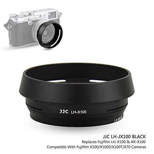 JJC Black Lens Hood for Fuji Fujifilm X100F, X100, X100S, X100T Camera, Replaces Fujifilm LH-X100 Lens Hood