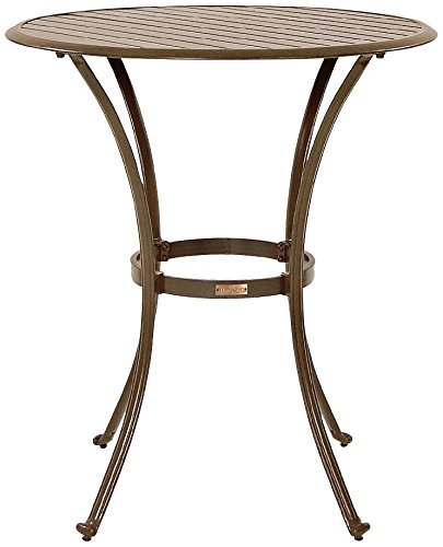 Panama Jack Outdoor Island Breeze Slatted Aluminum Round Pub Table in Espresso Finish, 36-Inch (Breeze Pub)