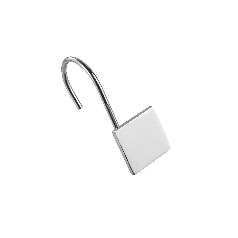 Croydex AK143041YW Cube Shower Curtain Ring, Chrome