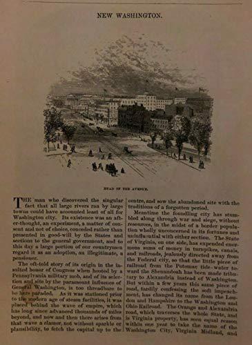 (1875 Washington DC P Street Bridge Potomac River Canal Capitol Hill New York Ave)