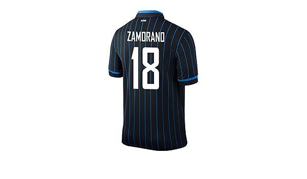 new product 45740 81fee Amazon.com: ZAMORANO #18 Inter Milan Home 2014/2015: Clothing