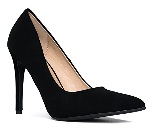 Black Slip Kiera On Closed Pumps Adams Pumps Nbpu High Pointed J Heel Classic Toe Work xqTgUIn